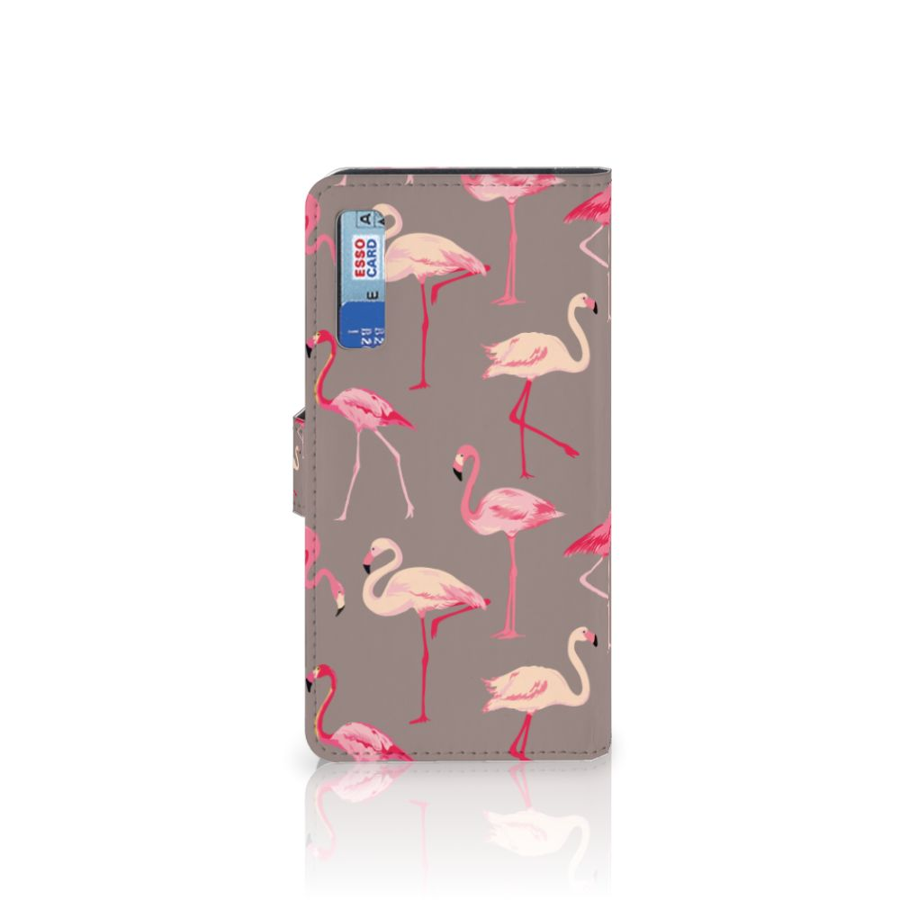 Samsung Galaxy A7 (2018) Telefoonhoesje met Pasjes Flamingo