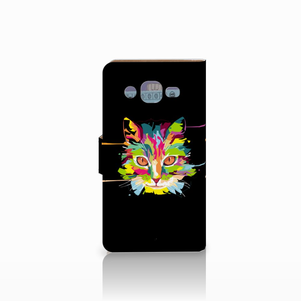 Samsung Galaxy J2 (2015) Leuke Hoesje Cat Color