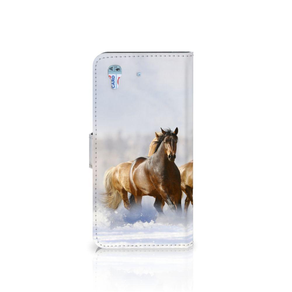 Honor 4A | Y6 Telefoonhoesje met Pasjes Paarden