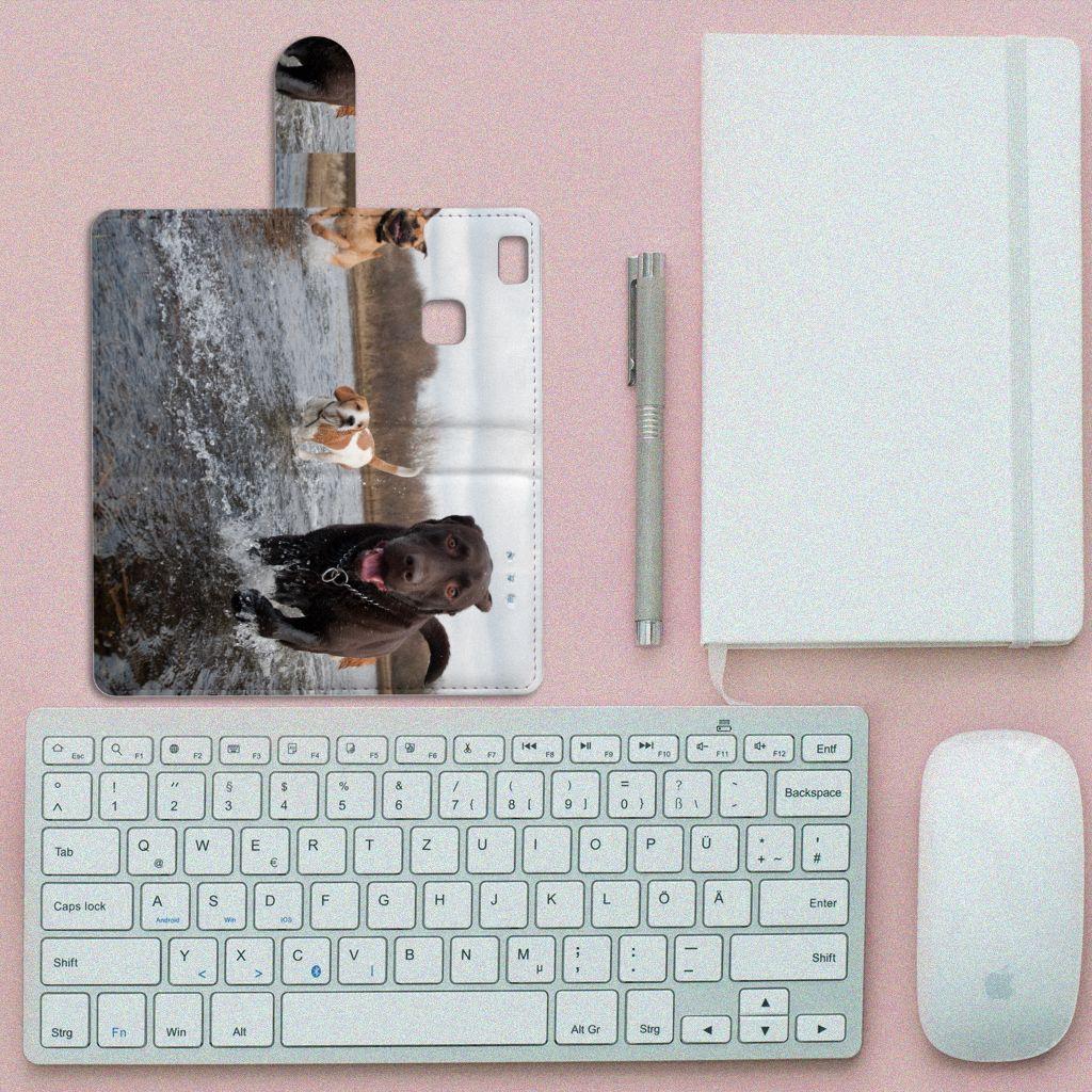 Huawei P9 Lite Telefoonhoesje met Pasjes Honden Labrador