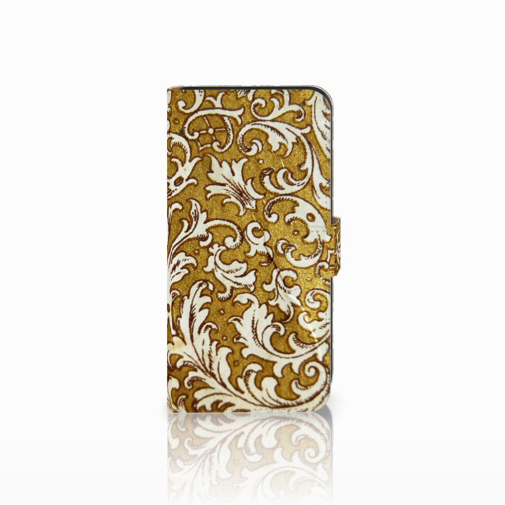 Wallet Case Samsung Galaxy E7 Barok Goud