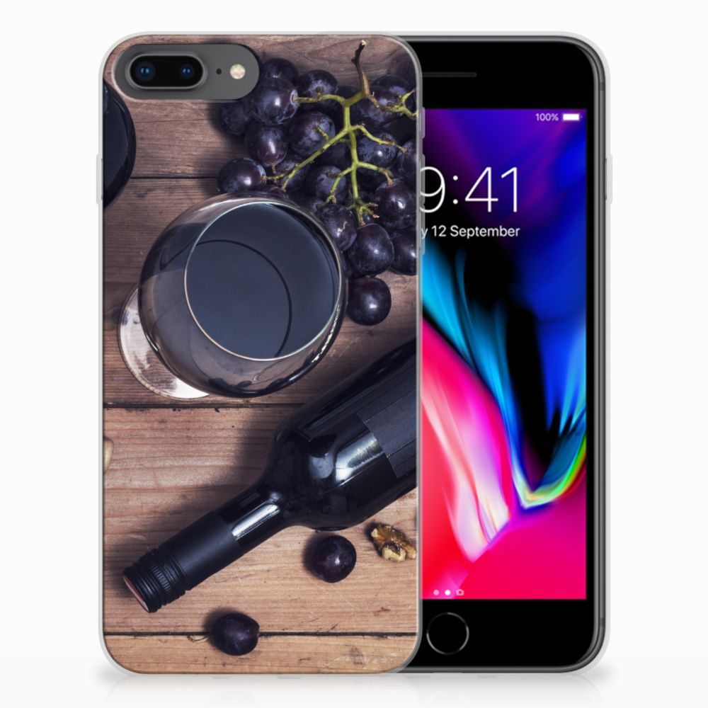 Apple iPhone 7 Plus | 8 Plus Siliconen Case Wijn