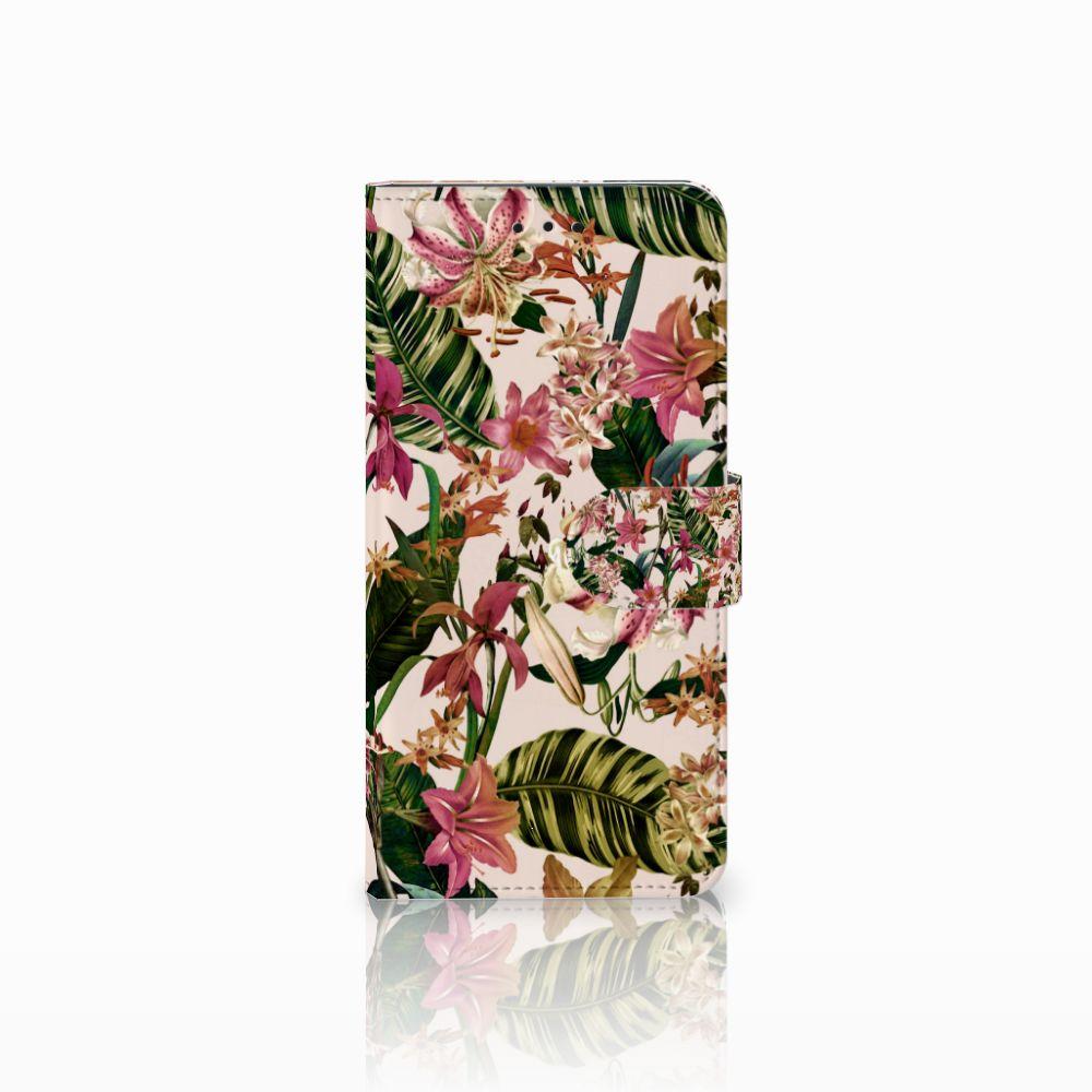 Motorola Moto E5 Uniek Boekhoesje Flowers