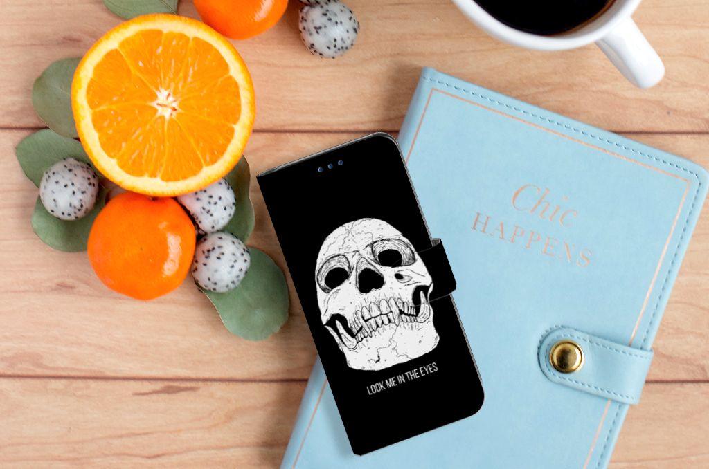 Samsung Galaxy S8 Uniek Boekhoesje Skull Eyes