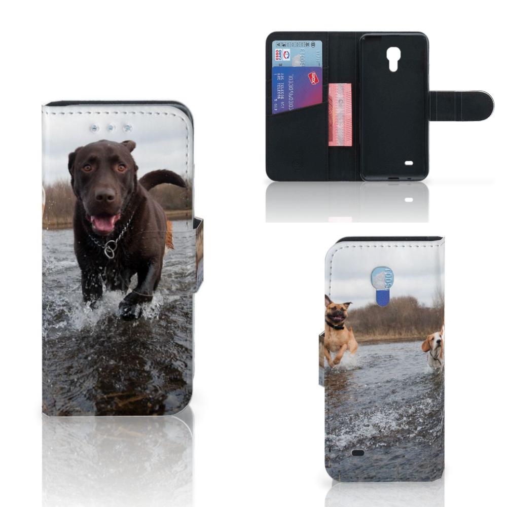 Samsung Galaxy S4 Mini i9190 Telefoonhoesje met Pasjes Honden Labrador