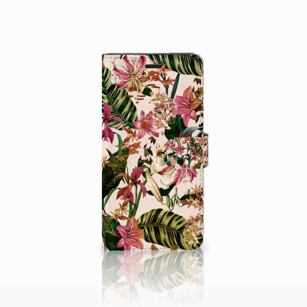 Wiko Pulp Fab 4G Uniek Boekhoesje Flowers