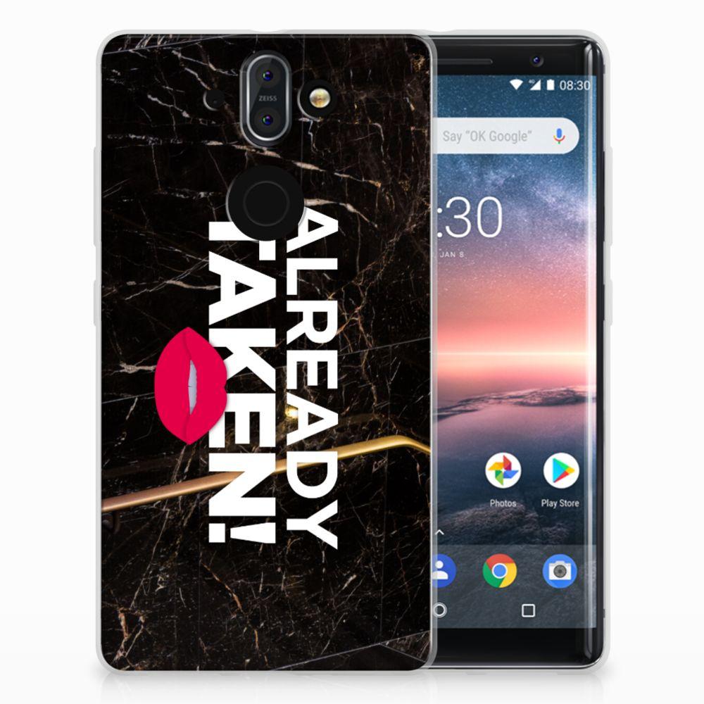 Nokia 9 | 8 Sirocco TPU Hoesje Design Already Taken Black