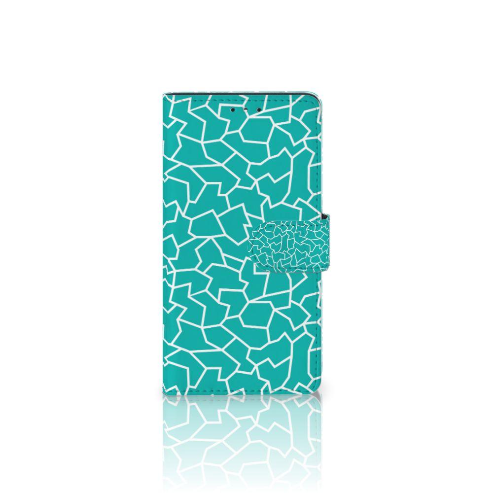 LG K10 (2017) Boekhoesje Design Cracks Blue