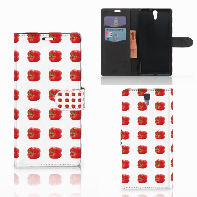 Sony Xperia C5 Ultra Book Cover Paprika Red