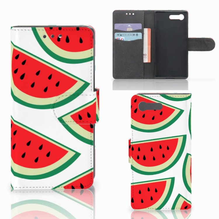 Sony Xperia X Compact Book Cover Watermelons