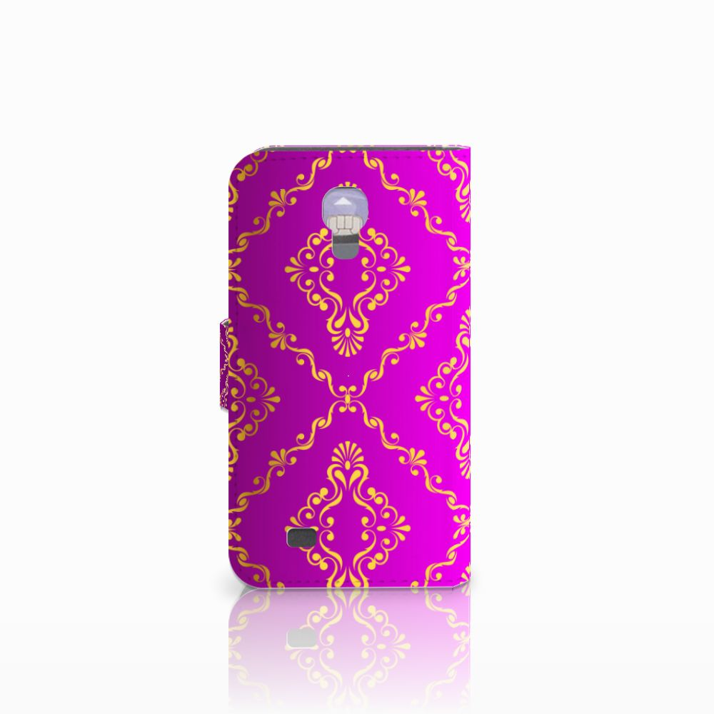 Wallet Case Samsung Galaxy S4 Barok Roze
