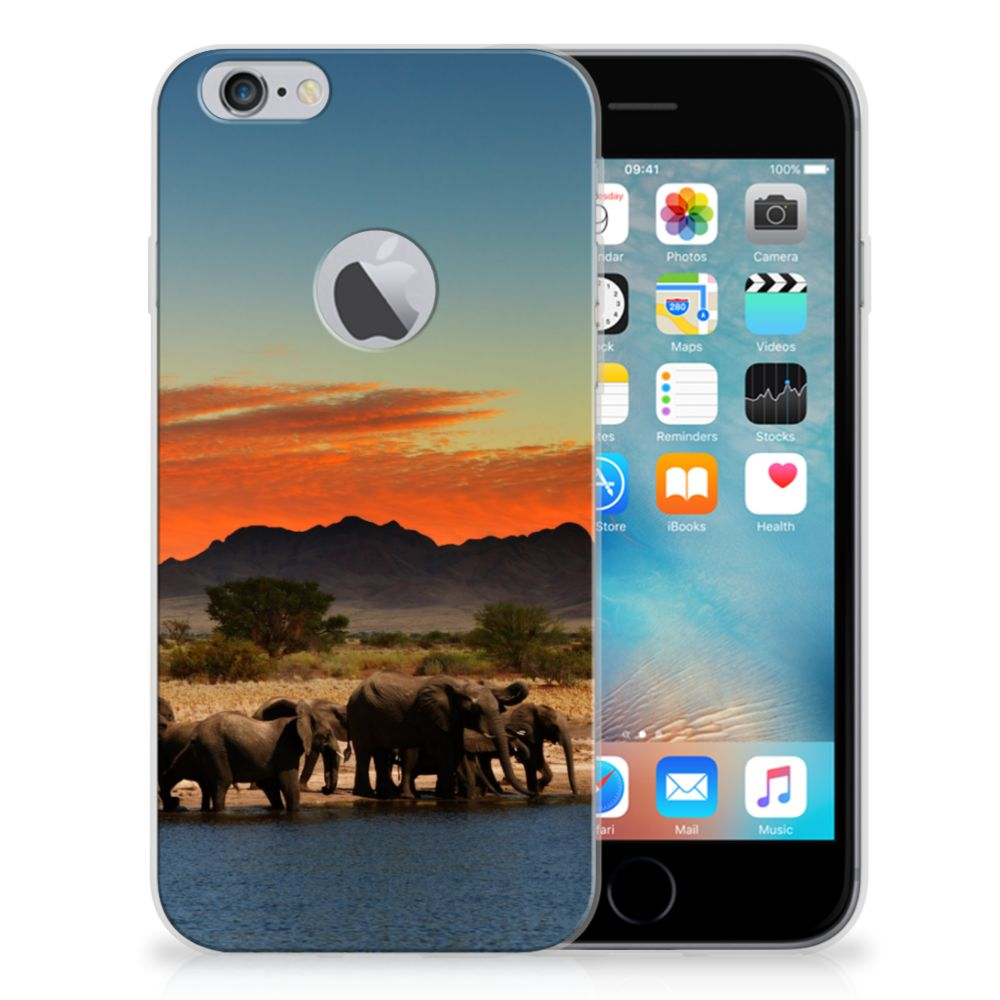 Apple iPhone 6 Plus | 6s Plus TPU Hoesje Design Olifanten