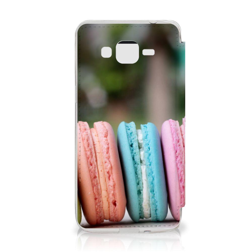 Samsung Galaxy Grand Prime Book Cover Macarons