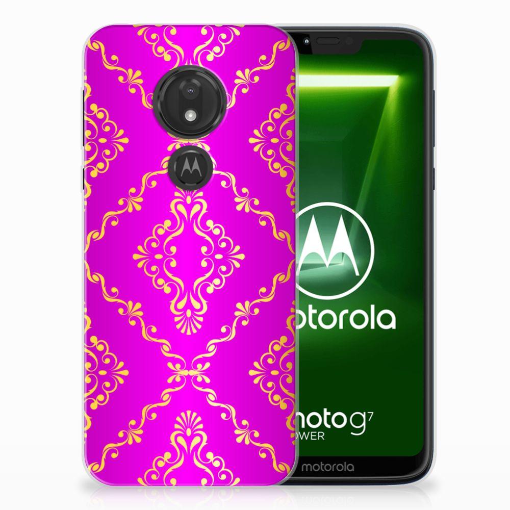 Motorola Moto G7 Power Uniek TPU Hoesje Barok Roze