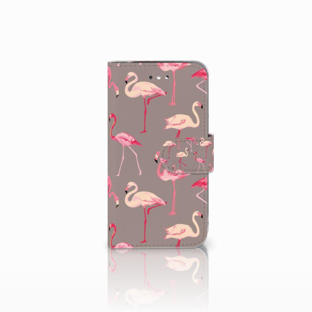 Samsung Galaxy S4 Uniek Boekhoesje Flamingo