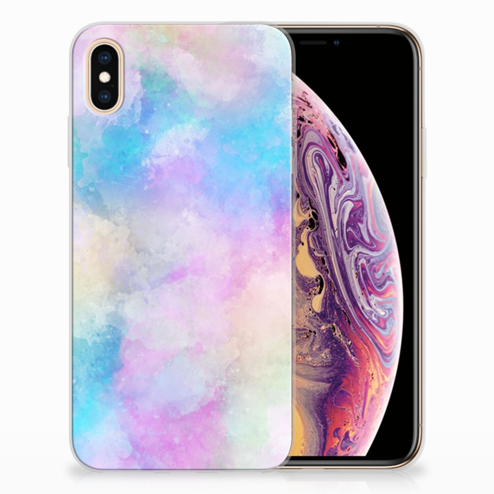 Apple iPhone Xs Max Uniek TPU Hoesje Watercolor Light