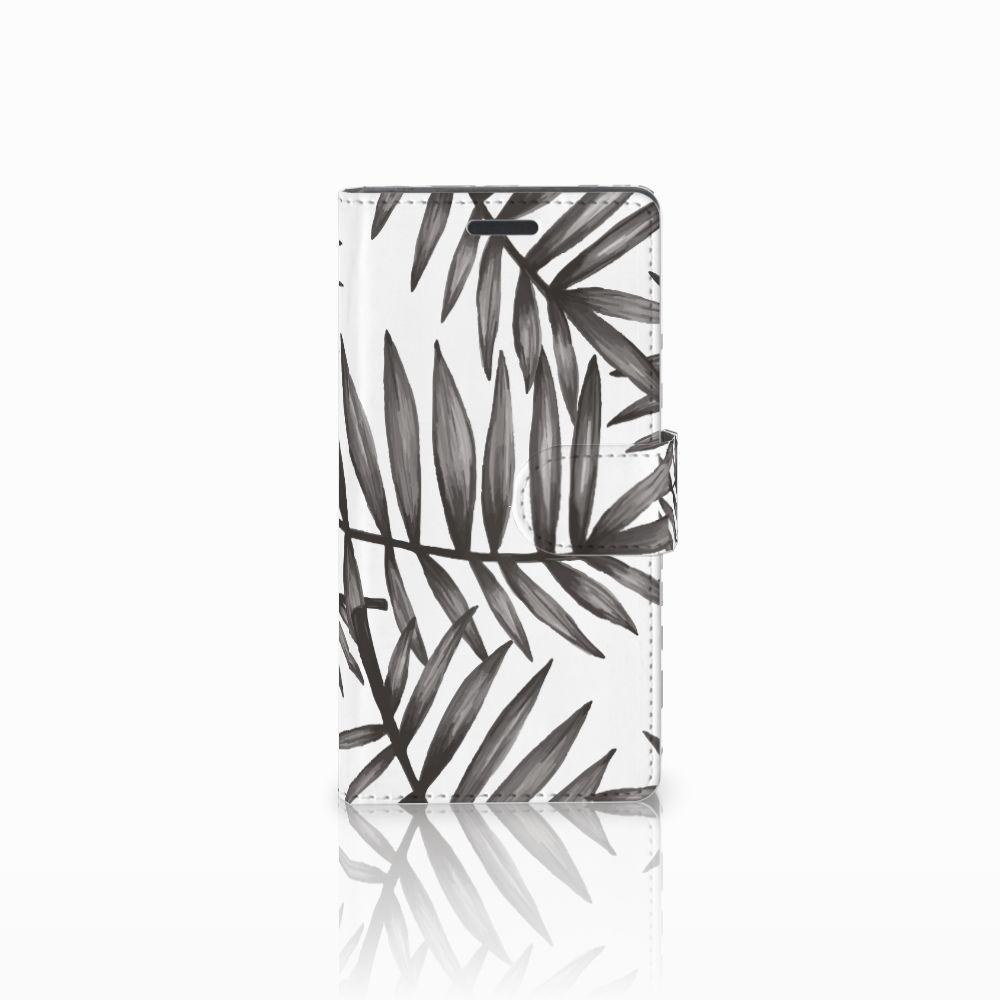Nokia Lumia 830 Uniek Boekhoesje Leaves Grey