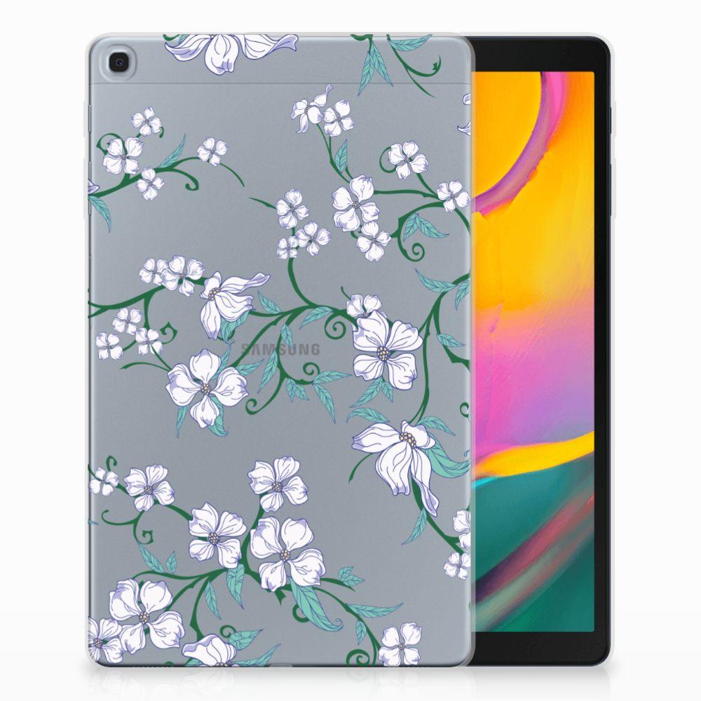 Samsung Galaxy Tab A 10.1 (2019) Uniek Tablethoesje Blossom White