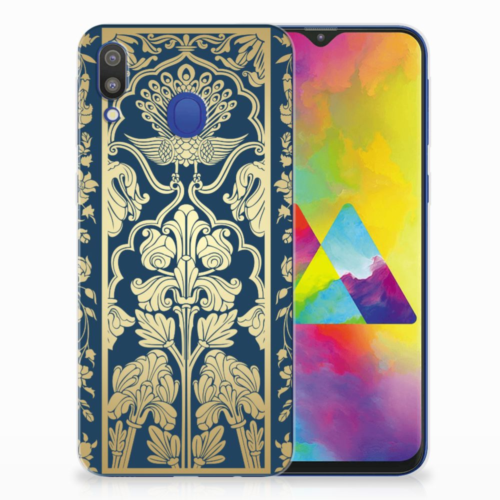 Samsung Galaxy M20 (Power) TPU Case Golden Flowers