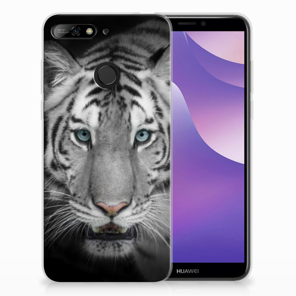 Huawei Y6 (2018) Uniek TPU Hoesje Tijger