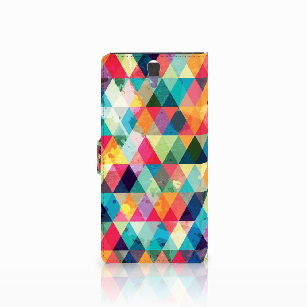 Sony Xperia C5 Ultra Telefoon Hoesje Geruit