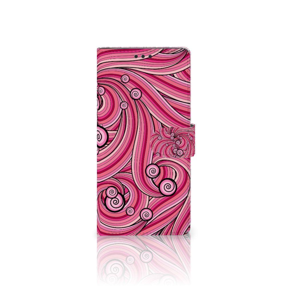 Sony Xperia XA Ultra Uniek Boekhoesje Swirl Pink