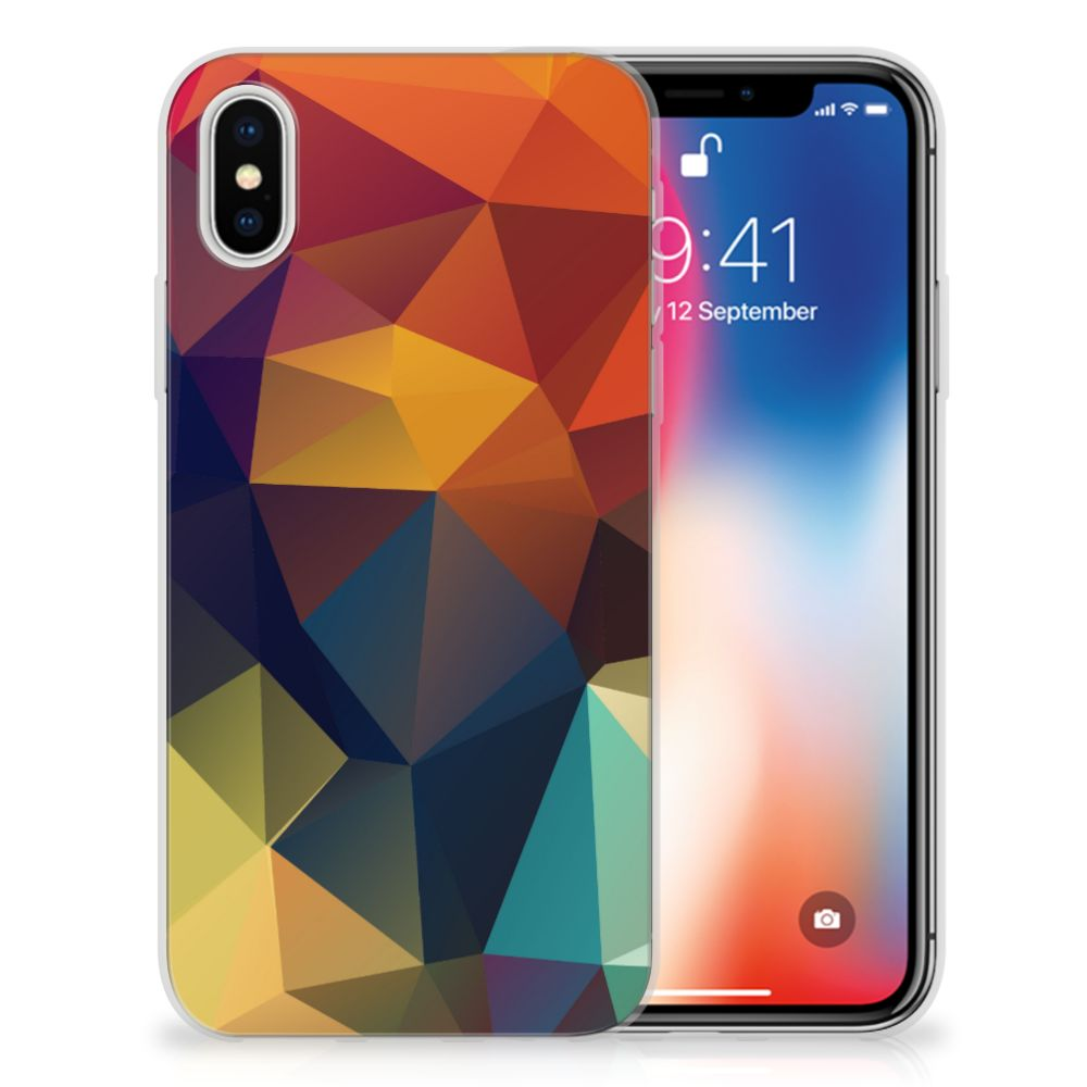 Apple iPhone X | Xs TPU Hoesje Design Polygon Color