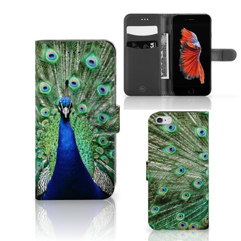 Apple iPhone 6 Plus | 6s Plus Telefoonhoesje met Pasjes Pauw