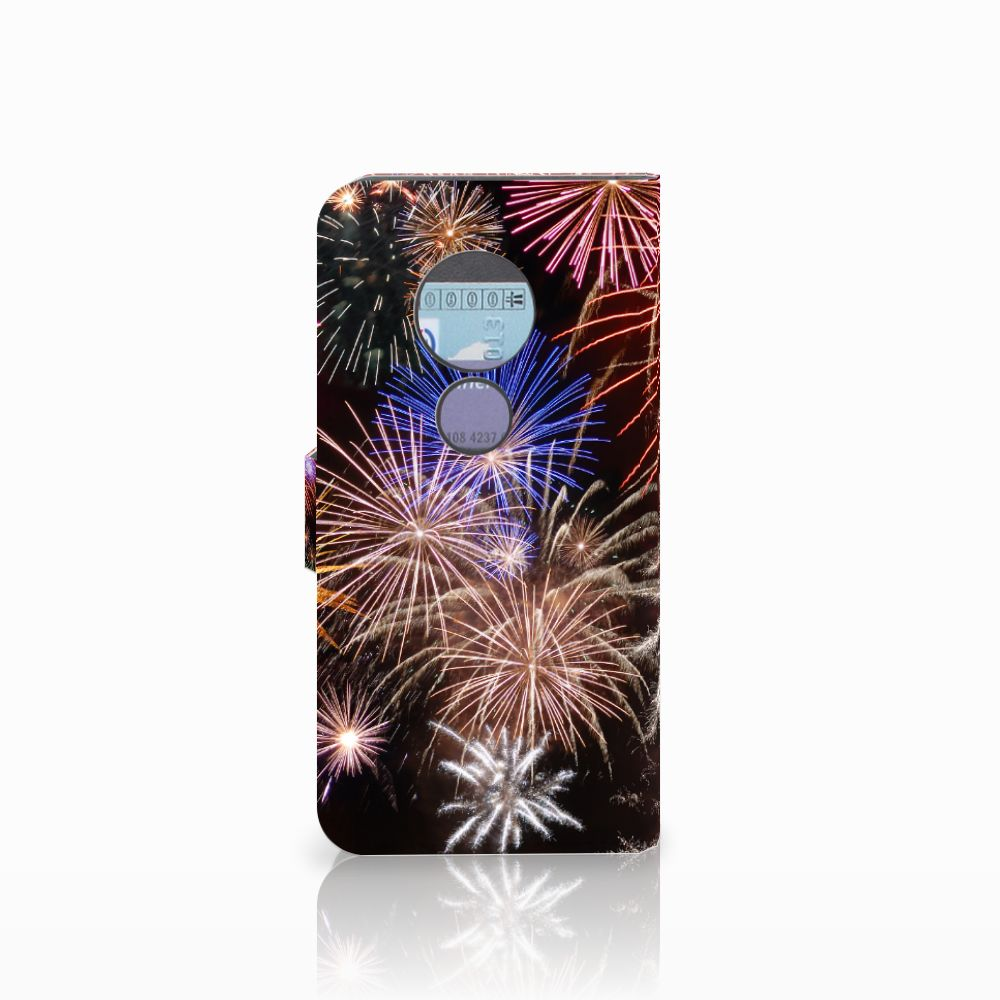 Motorola Moto G6 Play Wallet Case met Pasjes Vuurwerk