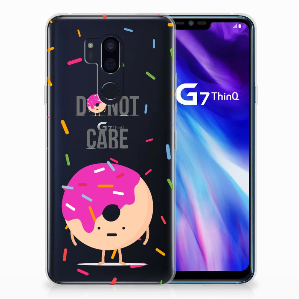 LG G7 Thinq Siliconen Case Donut Roze