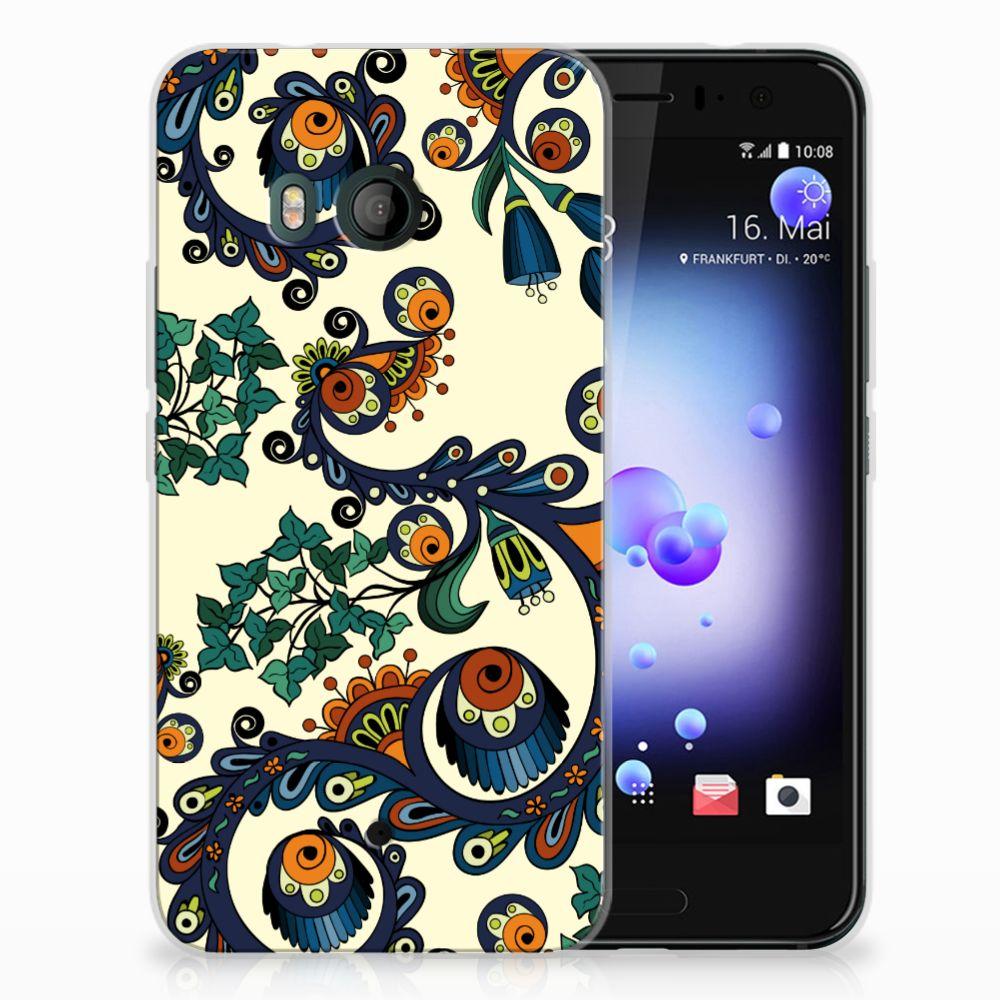 Siliconen Hoesje HTC U11 Barok Flower