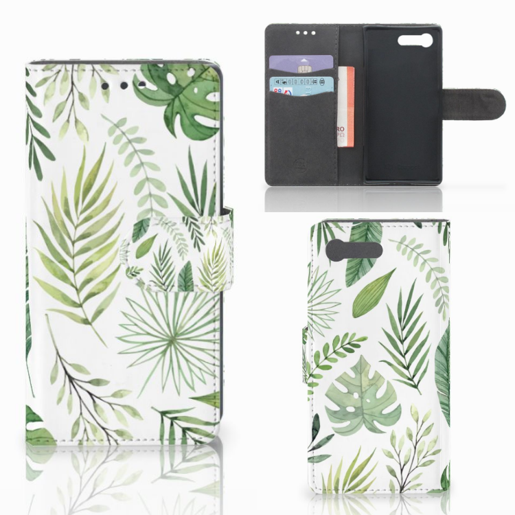 Sony Xperia X Compact Hoesje Leaves