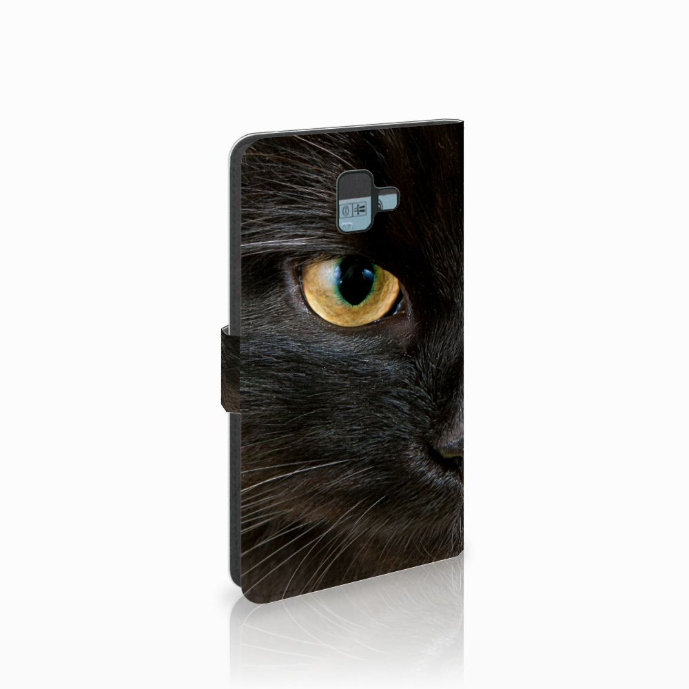 Samsung Galaxy J6 Plus (2018) Uniek Boekhoesje Zwarte Kat