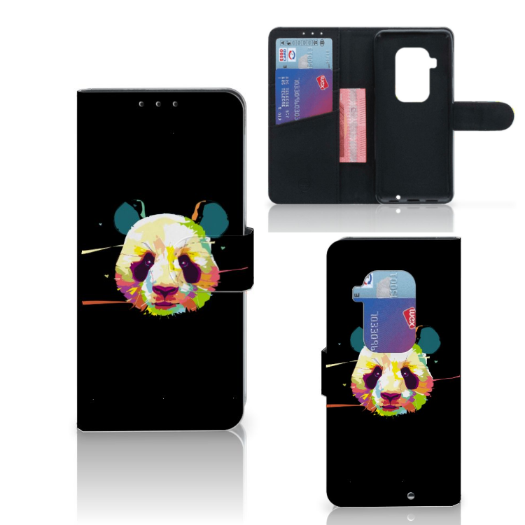 Motorola One Zoom Leuk Hoesje Panda Color