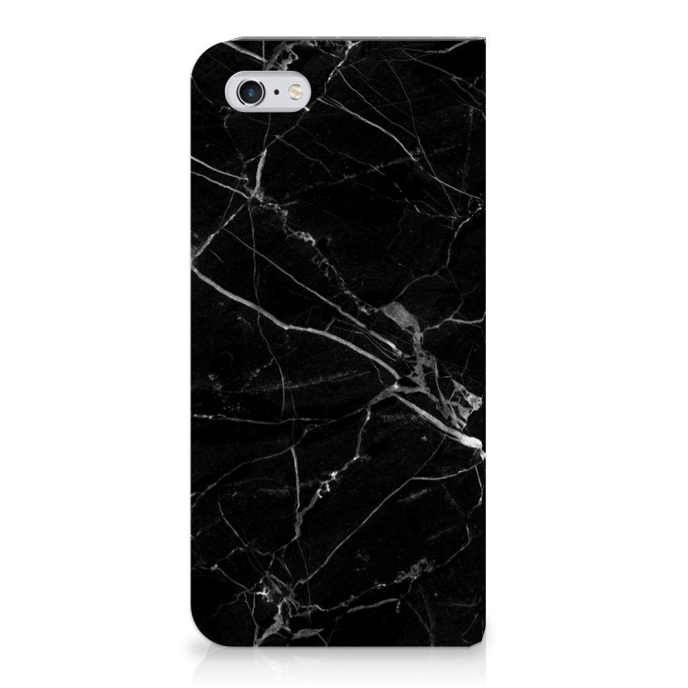 Apple iPhone 6 | 6s Uniek Standcase Hoesje Marmer Zwart