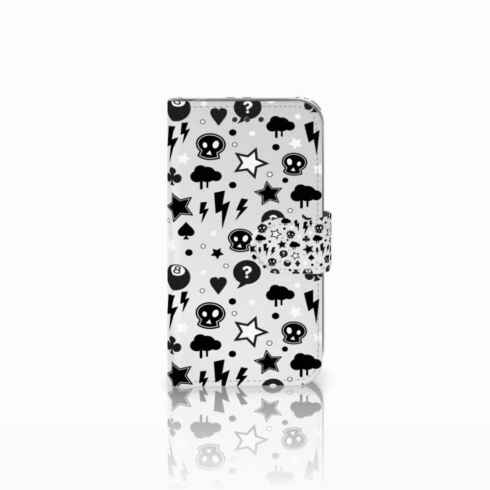 Samsung Galaxy Core Prime Uniek Boekhoesje Silver Punk