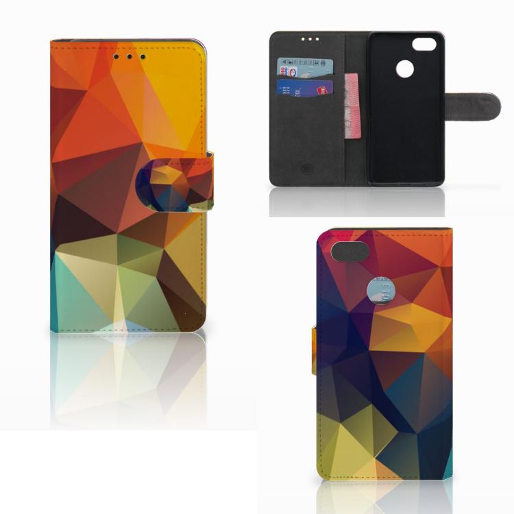 Huawei Y6 Pro 2017 Bookcase Polygon Color