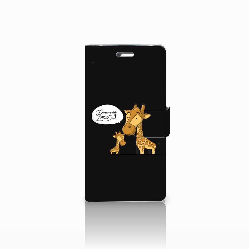 LG K10 2015 Uniek Boekhoesje Giraffe