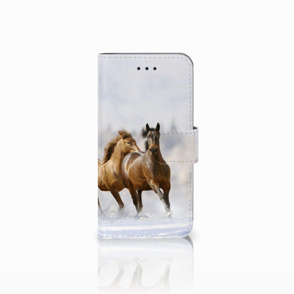 Apple iPhone X | Xs Uniek Boekhoesje Paarden