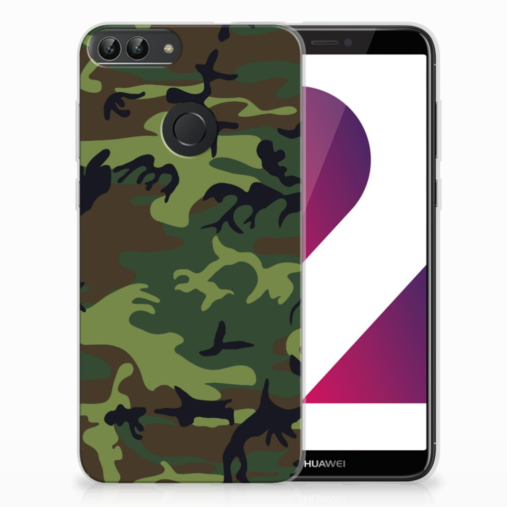 Huawei P Smart TPU Hoesje Design Army Dark