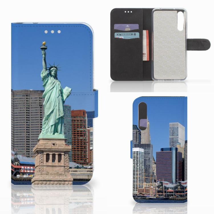 Huawei P20 Pro Flip Cover Vrijheidsbeeld