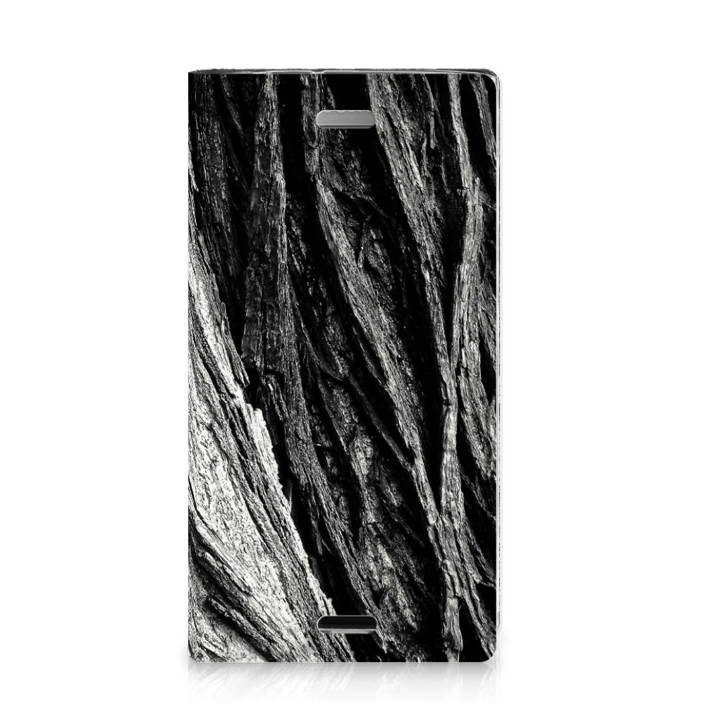 Book Wallet Case Sony Xperia XZ1 Compact Boomschors Grijs
