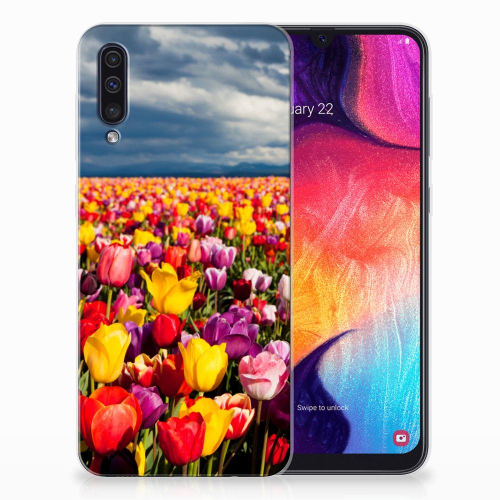 Samsung Galaxy A50 Uniek TPU Hoesje Tulpen