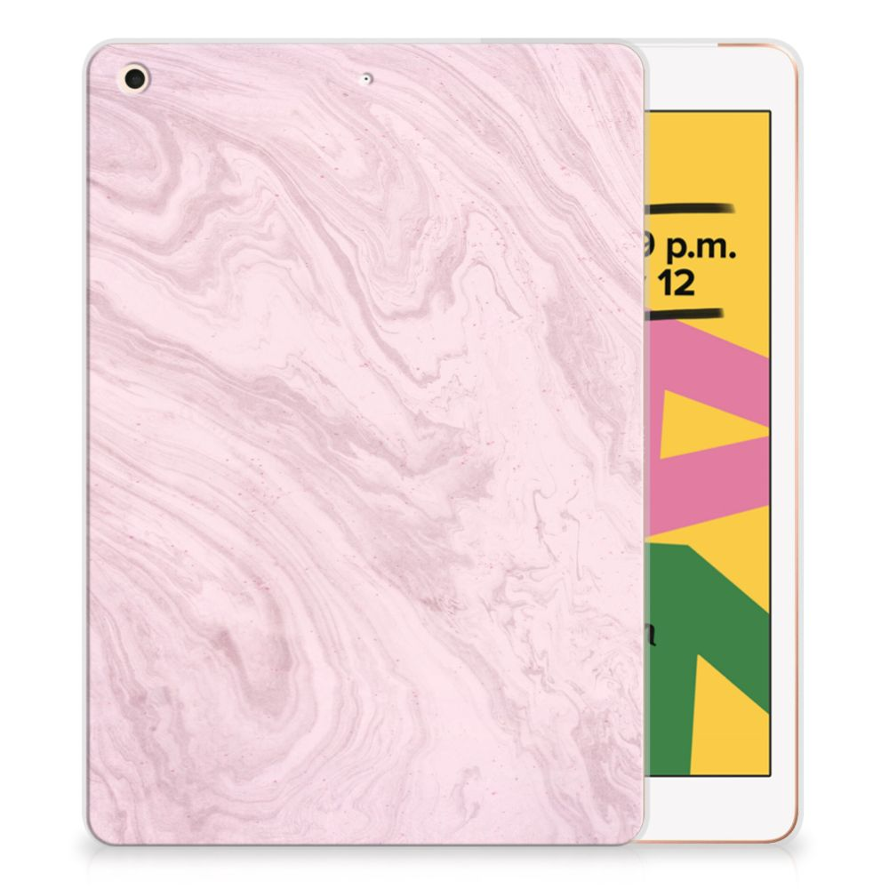 Apple iPad 10.2 (2019) Tablet Back Cover Marble Pink