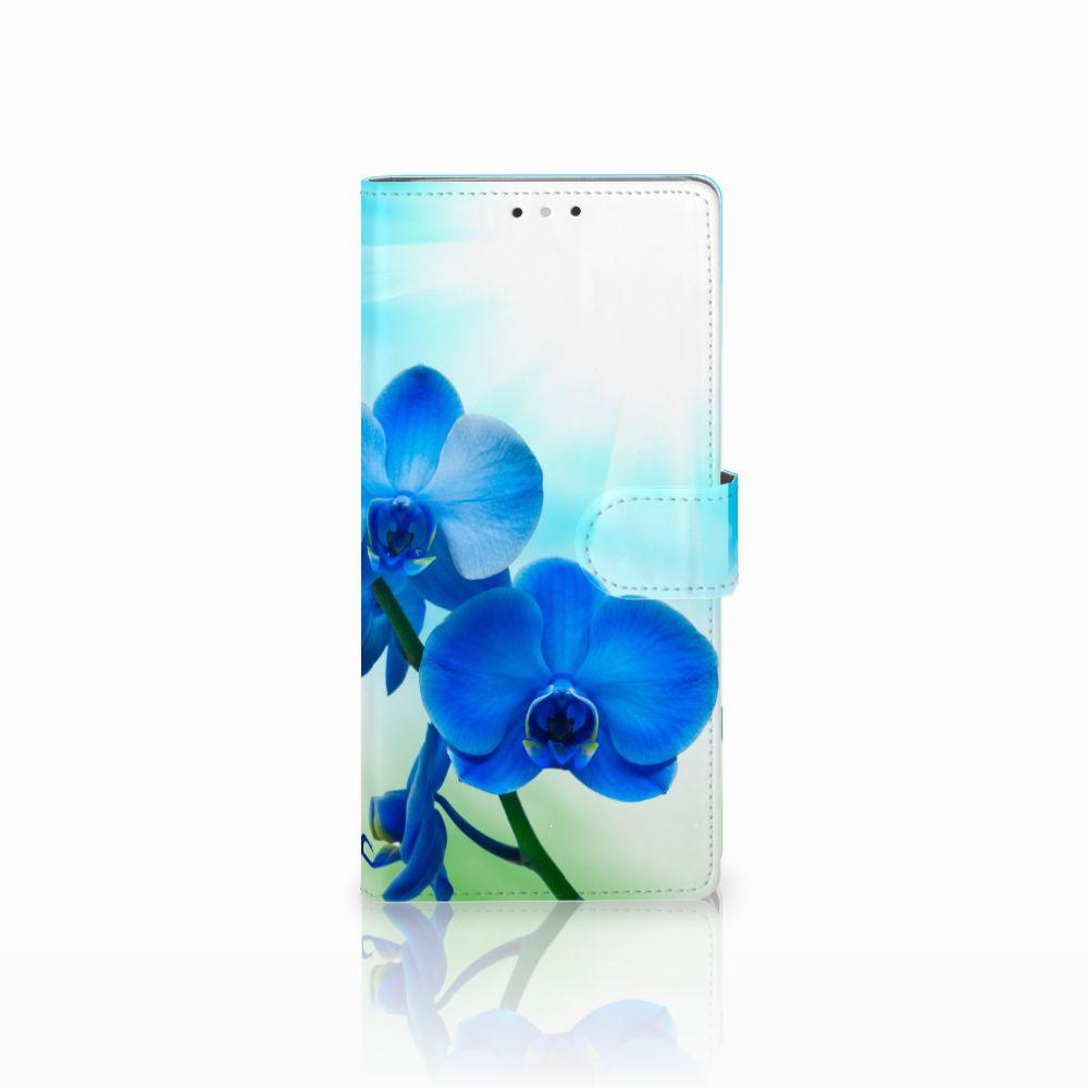 HTC U Ultra Boekhoesje Design Orchidee Blauw
