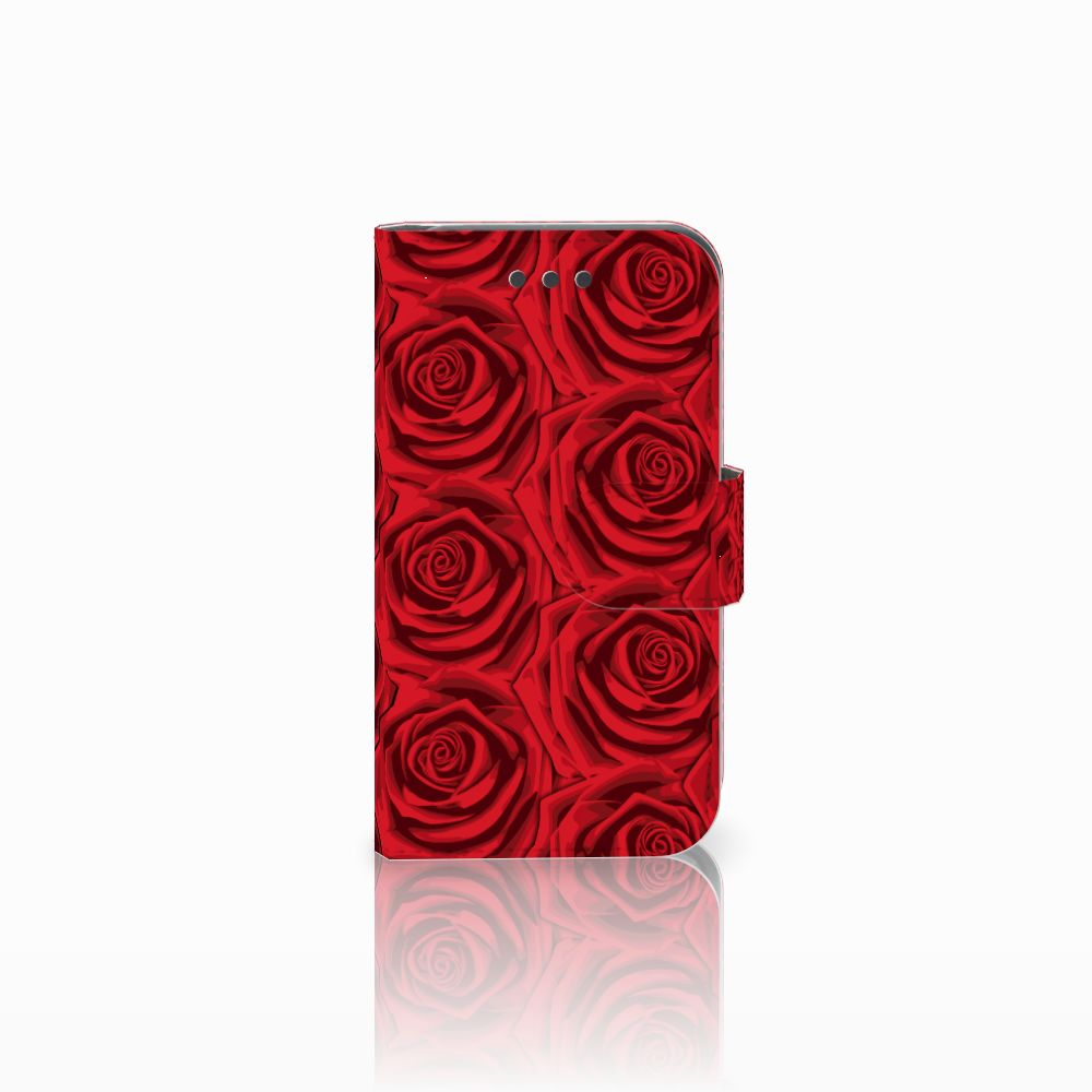 Samsung Galaxy Core 2 Uniek Boekhoesje Red Roses