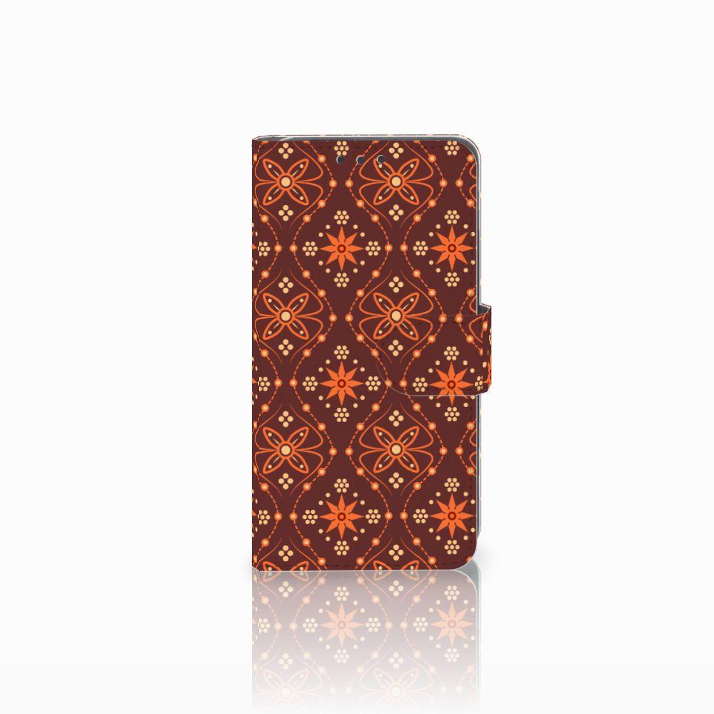 Huawei Y5 2 | Y6 II Compact Uniek Boekhoesje Batik Brown