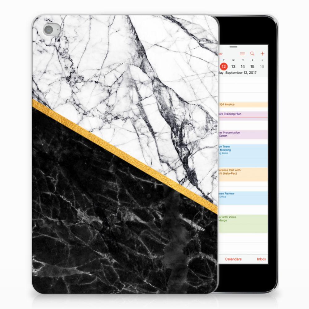 Apple iPad Mini 4 | Mini 5 (2019) Tablet Back Cover Marmer Wit Zwart