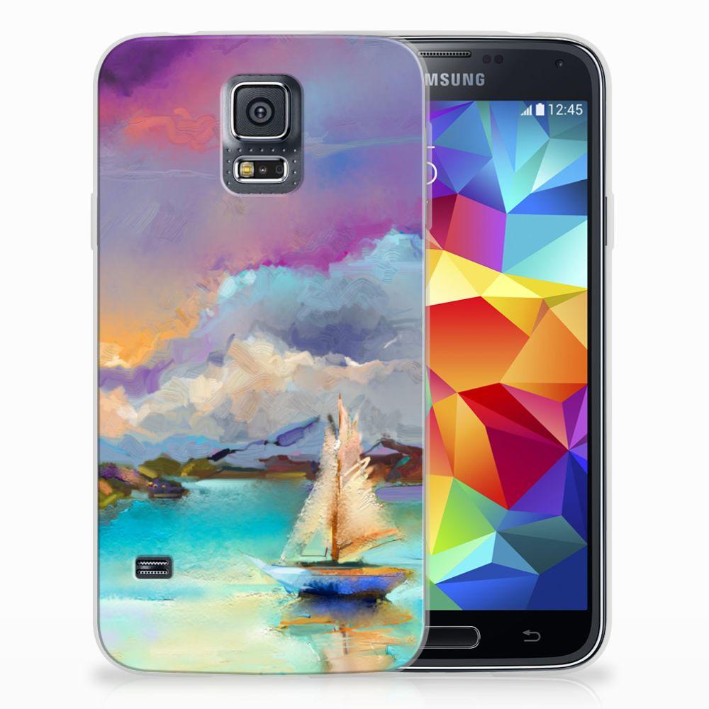 Samsung Galaxy S5 Uniek TPU Hoesje Boat