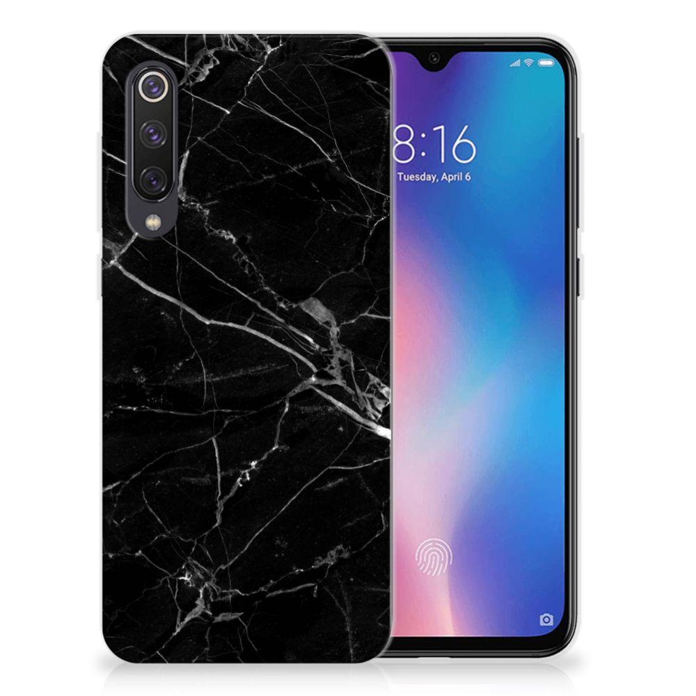 Xiaomi Mi 9 SE TPU Siliconen Hoesje Marmer Zwart